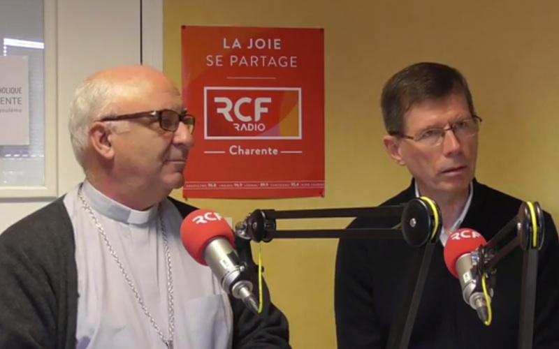 Mgr Gosselin et Jacques Bonnet à Parole à notre évêque