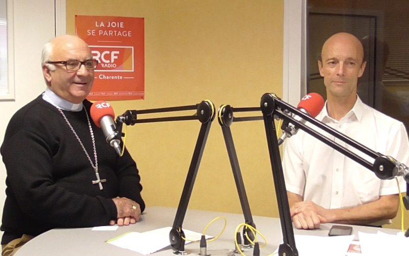 Mgr Hervé Gosselin et Pierre Piton délégué diocésain à l'écologie