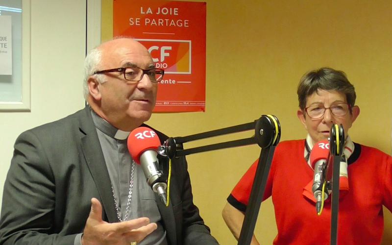 Monseigneur Hervé Gosselin et Nicole Brillet