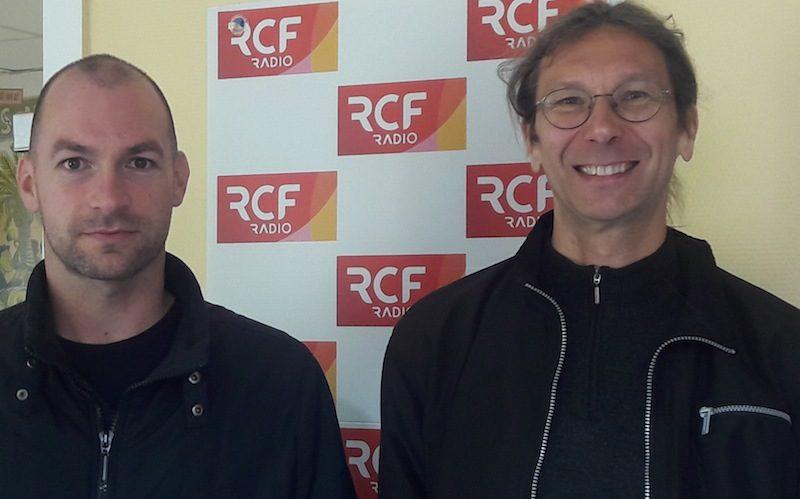 Sylvain Colmar de la Fédération Charentaise des œuvres laïques et Thierry Bordas, du Comité départemental Olympique et Sportif de la Charente
