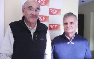 Noël Deslandes et Claude Giammatei, deux membres actifs des Cinémaniacs jarnacais