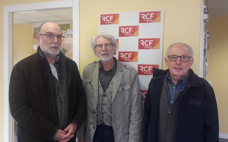 Garaud Francis, président du comité de quartier Saint-Gelais à Angoulême et Jean-Claude Fayet et Jean-Claude Méry