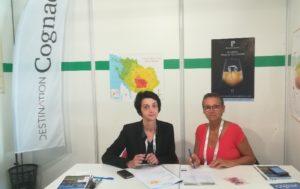 De gauche à droite, Mmes Nathalie Leclerc et Christine Baudry