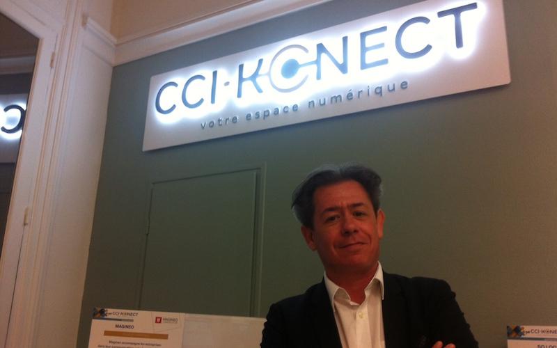 Jean-François Vignaud, responsable informatique à la Chambre de commerce et d'industrie de la Charente