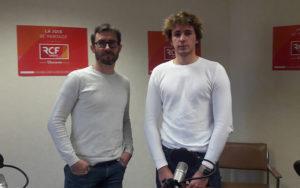 Nicolas Epinoux, le président de la scucc et Alexandre Errakhli, étudiant et membre actif