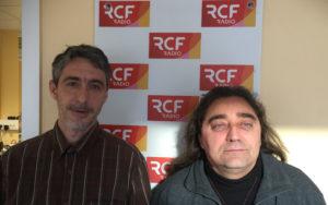 Loïc Billeres, trésorier de l'association Centre des métiers d'art de Charente, et Stéphane Lambert, membres actif.