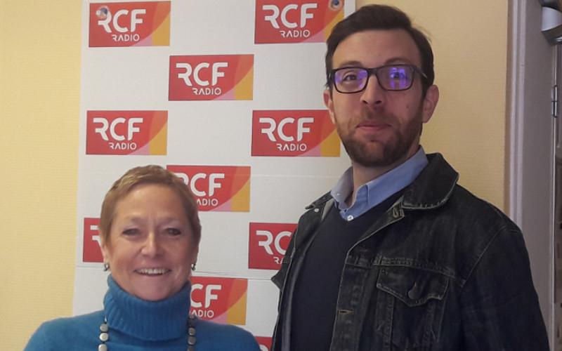 Véronique Frantz responsable de l'institut François Mitterrand à Jarnac et Benjamin Clément responsable des visites de la maison natale de l'ancien président