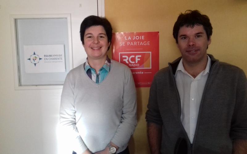 Père Benoît Lecomte et Jessica Mory