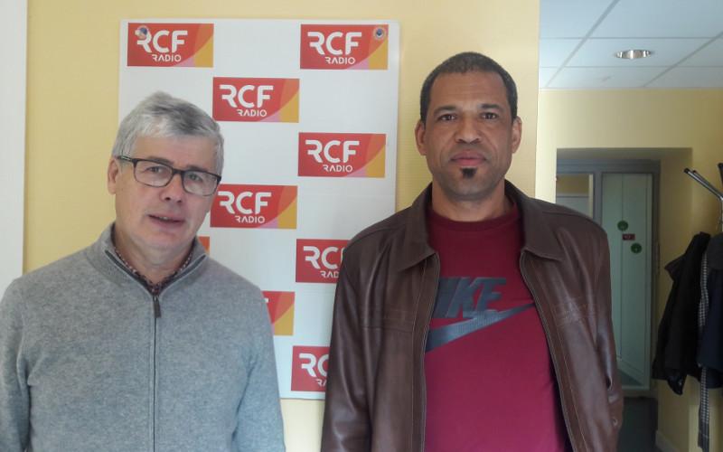 Bernard Chillet président d'ENVIE et Samir Maimoundi chef d'exploitation