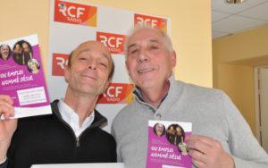 Jean-Luc Laborde, responsable du groupe SNC de Charente et Pierre Piton, bénévole de l'association