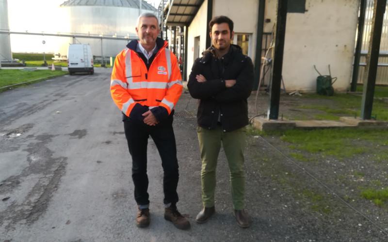 A droite Nicolas POUILLADE, directeur de la société REVICO et à gauche Antoine GIUDICELLI, ingénieur d'étude du BNIC