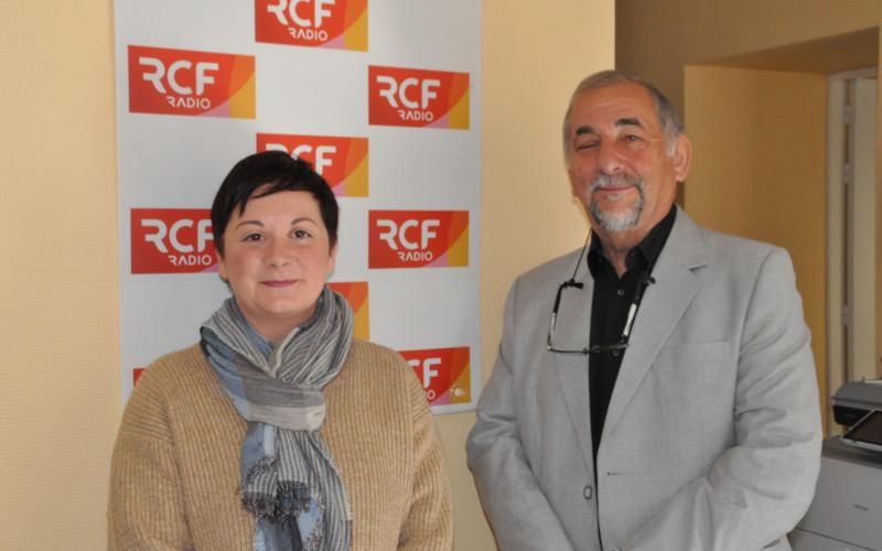 Grégoria Làzaro, président de l'association des Espagnols de Charente et Céline Brunaud, responsable de la commission culture