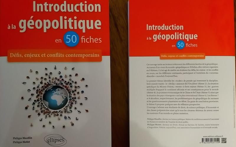 """Philippe Mottet et Philippe Mocelin, auteurs de « Introduction à la géopolitique en 50 fiches. Introduction, fiches"""" (éditions Ellipses)"""