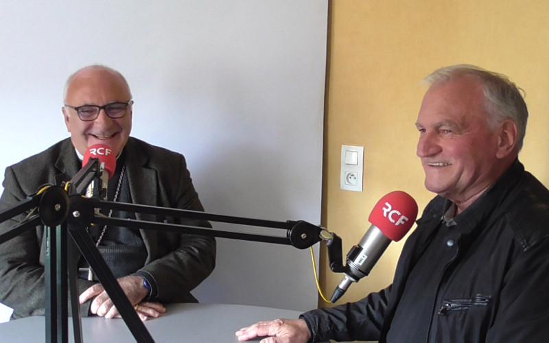 Monseigneur Hervé Gosselin et Jacques Baudet