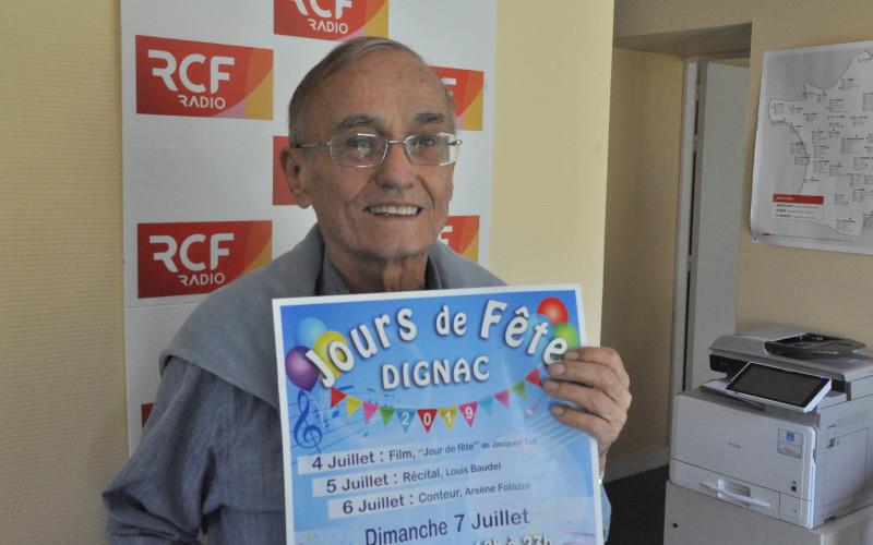 Jean Claude Rambaud, président du comité d'animation de Jours de fête à Dignac