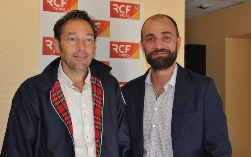"""Cédric Fortier et Sébastien Bollut, membres de la compagnie de théâtre """"Les Dénaturés"""""""